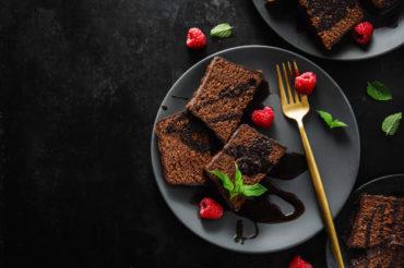Czekoladowe ciasto jaglane z fasolą